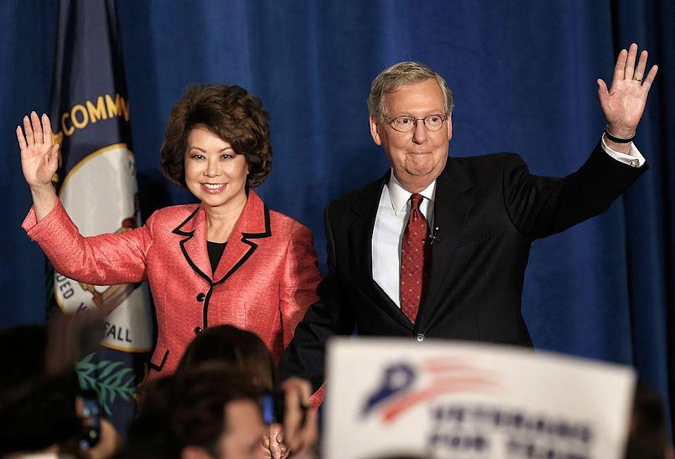 """<p>""""Before he was [Senate Majority] leader he actually cooked,"""" Chao told CBS News. """"I call him my low-maintenance husband.""""</p>"""