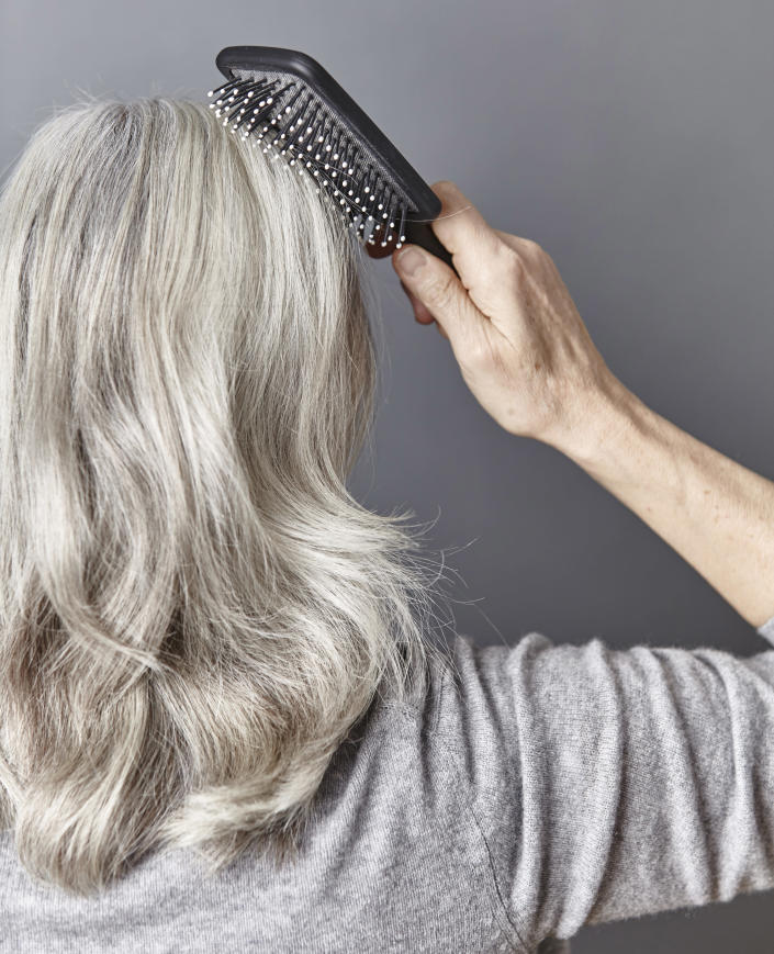 People with gray hair swear by this purple shampoo for ...