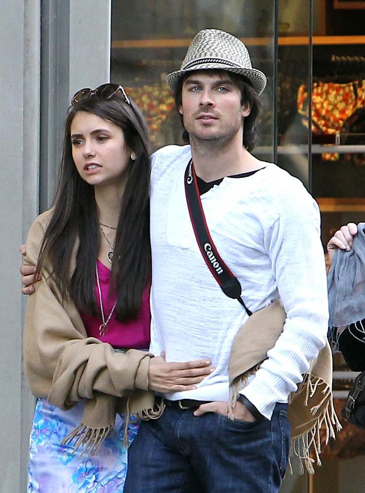 """Although Nina, 22, and Ian, 32, haven't announced that they're a couple yet, they sure looked cozy on their vacay! Do you think the two are an item? KCSPresse/<a href=""""http://www.splashnewsonline.com"""" target=""""new"""">Splash News</a> - May 24, 2011"""