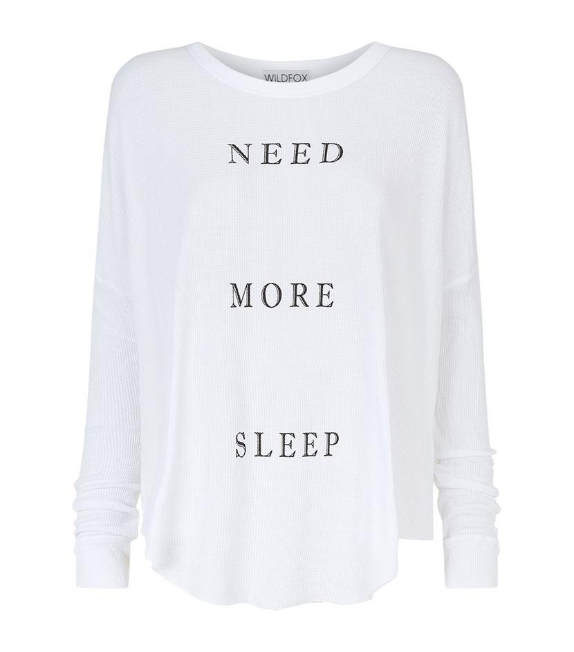 "<p></p><p><a rel=""nofollow"" href=""http://www.harrods.com/product/more-sleep-perry-thermal-tee/wildfox/000000000005301509"">Harrods, £89.95</a></p><p></p>"
