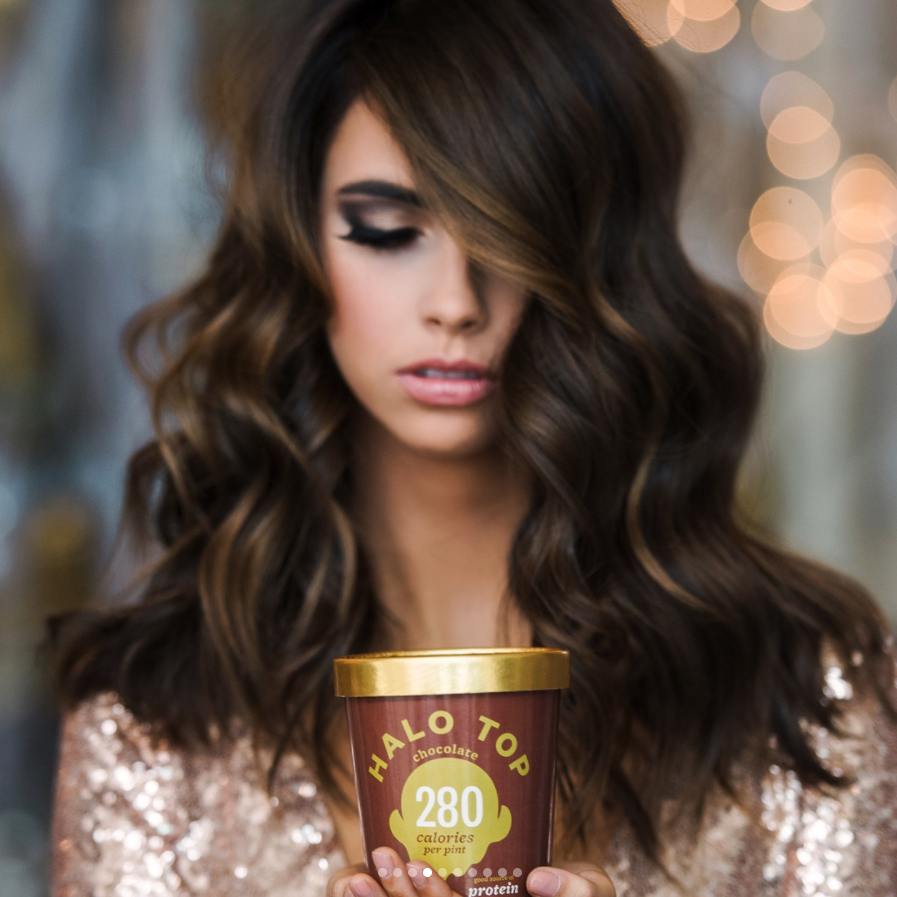 <p>We'll take a serving (or two) of this Chocolate Halo Top-inspired hair color. (Photo: Instagram/mikaatbhc) </p>