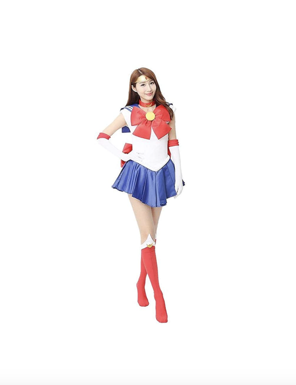 """<p><strong>Cosplay Life</strong></p><p>amazon.com</p><p><strong>$64.99</strong></p><p><a href=""""https://www.amazon.com/dp/B07S4F2BG9?tag=syn-yahoo-20&ascsubtag=%5Bartid%7C10055.g.28102891%5Bsrc%7Cyahoo-us"""" rel=""""nofollow noopener"""" target=""""_blank"""" data-ylk=""""slk:Shop Now"""" class=""""link rapid-noclick-resp"""">Shop Now</a></p><p>Every '90s kid remembers<em> Sailor Moon</em>, the Japanese anime series about heroines in sailor suits who team up to save the world. All you need is a nautical-inspired outfit and a larger-than-life blonde wig to complete your look.</p>"""