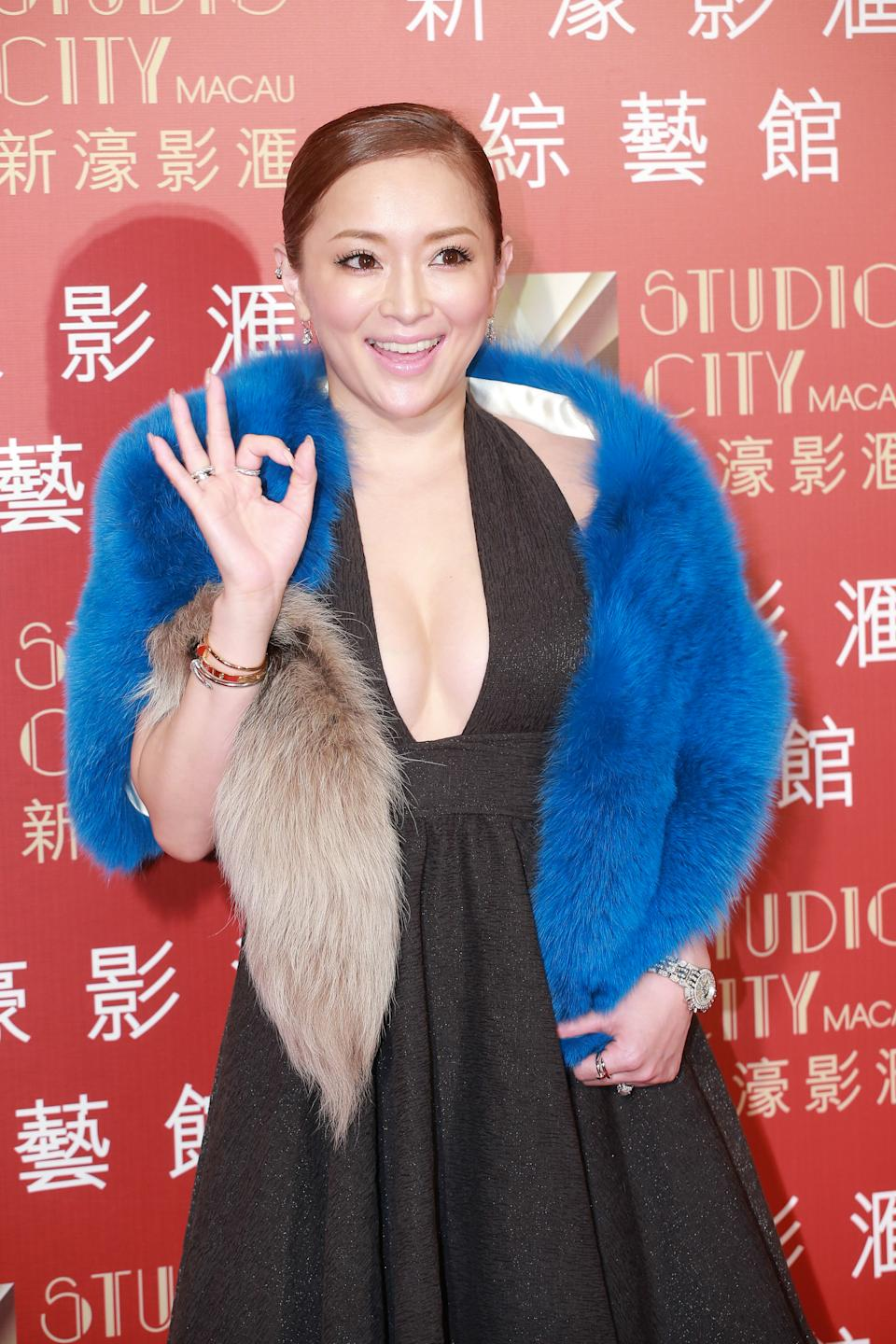 """MACAU - FEBRUARY 21:  (CHINA OUT) Japanese singer Ayumi Hamasaki comes to watch Madonna's concert """"Rebel Heart Tour"""" on February 21, 2016 in Macau, China.  (Photo by Visual China Group via Getty Images/Visual China Group via Getty Images)"""
