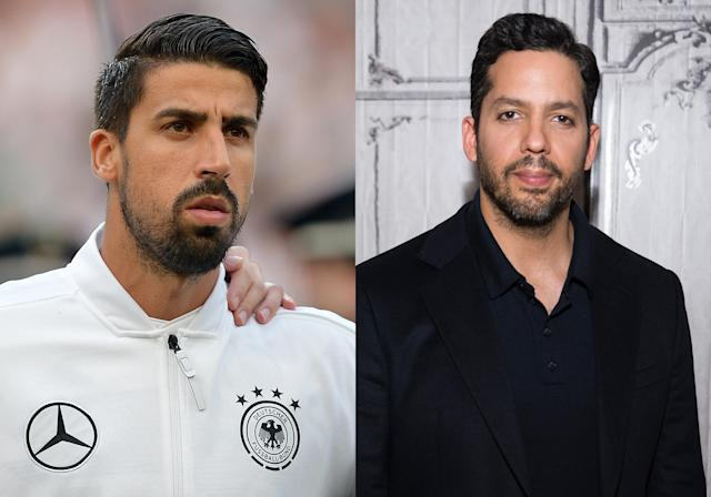 <p>German midfielder Sami Khedira and magician David Blaine </p>