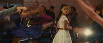 """This image released by 20th Century Studios shows Rachel Zegler as Maria in a scene from """"West Side Story."""" (20th Century Studios via AP)"""
