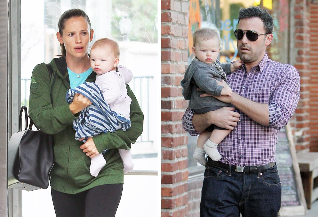 Ben Affleck takes baby son Samuel Affleck to dinner with wife Jennifer Garner and his daughters Violet Affleck and Seraphina Affleck in Pacific Palidades, California. Pictured: Ben Affleck and Samuel Affleck Ref: SPL452420  271012  Picture by: Headlinephoto / Splash News   Splash News and Pictures Los Angeles:310-821-2666 New York:212-619-2666 London:870-934-2666 photodesk@splashnews.com