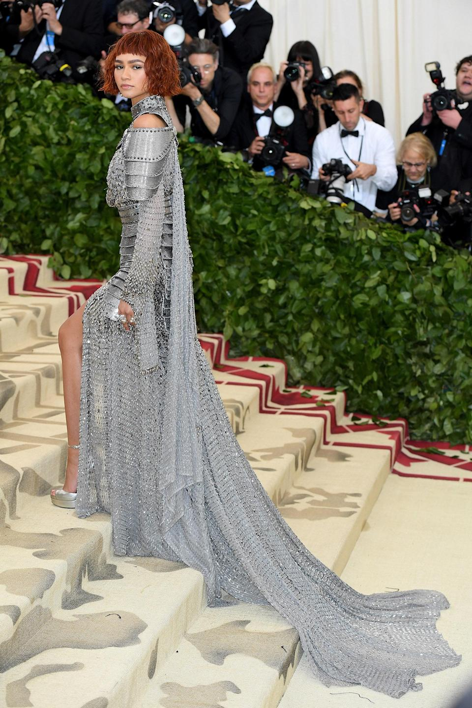 """<h1 class=""""title"""">Zendaya in Jean Paul Gaultier, 2018</h1><cite class=""""credit"""">Photo: Getty Images</cite>"""