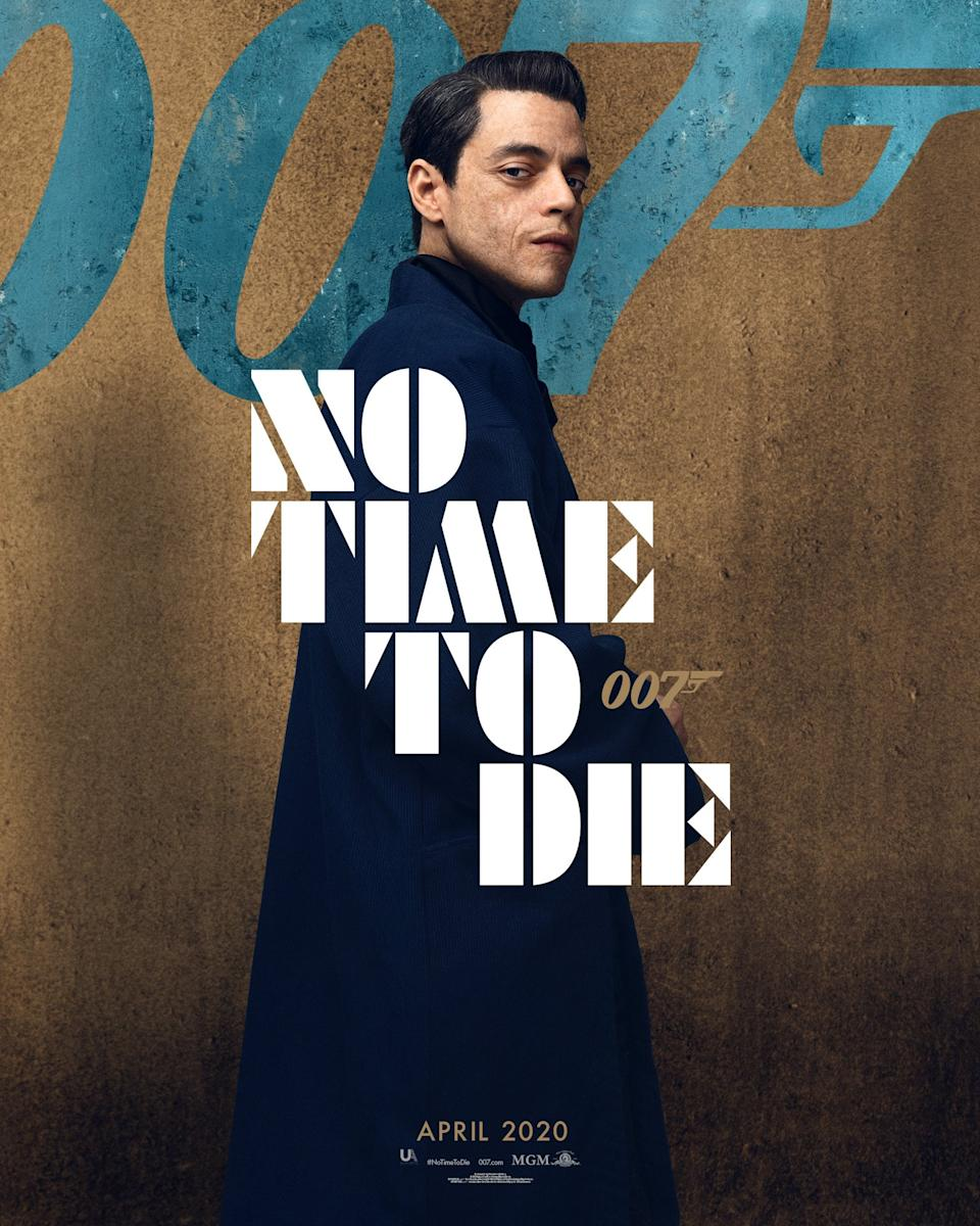 """Rami Malek's Bond villain Safin was described by producer Barbara Broccoli as """"the one that really gets under Bond's skin. He's a nasty piece of work"""". There's a hint of facial scarring here on the Oscar-winning <em>Bohemian Rhapsody</em> star. (Universal Pictures)"""