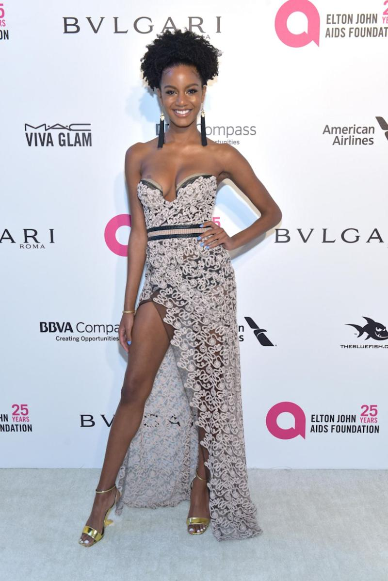The former America's Next Top Model star clearly took advice from model mentor Tyra Banks as she posing from head-to-toe. Source: Getty