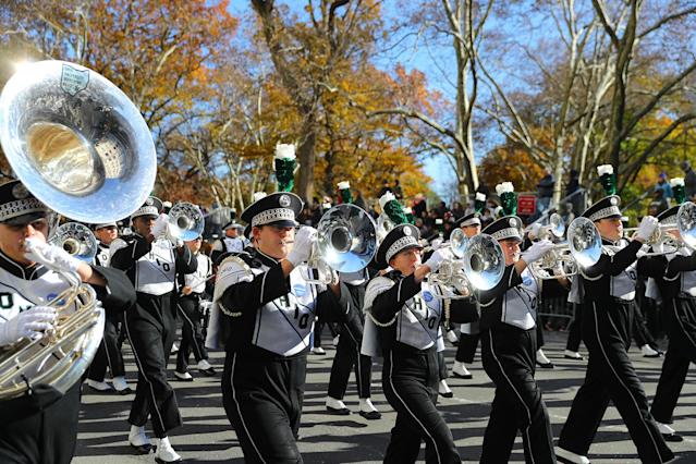 <p>The Ohio University Marching Band from Athens, Ohio, marches in the 91st Macy's Thanksgiving Day Parade in New York, Nov. 23, 2017. (Photo: Gordon Donovan/Yahoo News) </p>