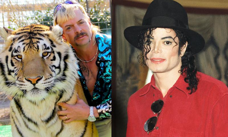 Michael Jackson reportedly kept animals at Joe Exotic's zoo. (Photo: Netflix/Getty Images)