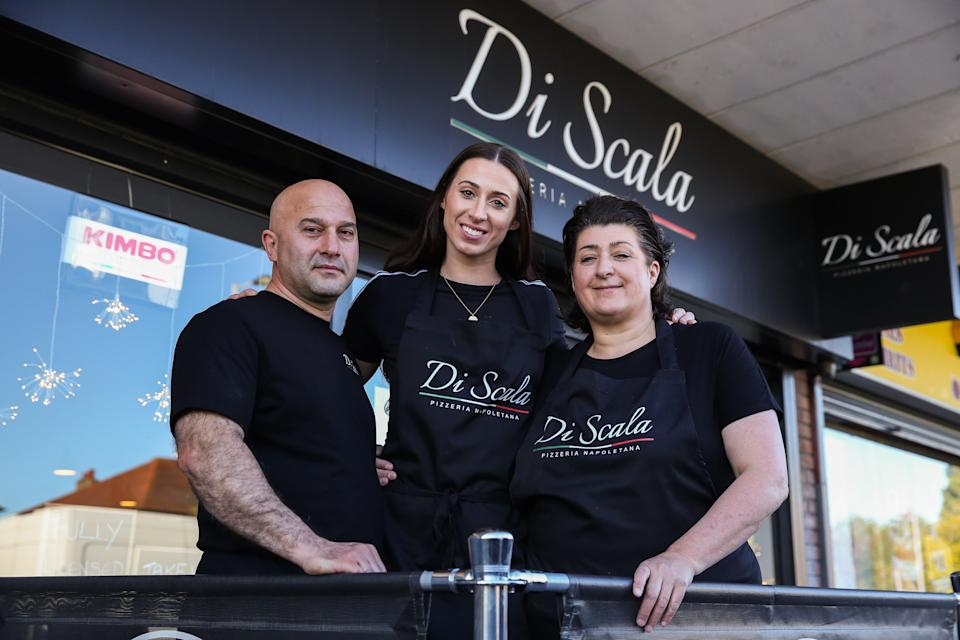 Walkden invested her prize money in a pizza restaurant, which she runs with parents Saeed and Anna Haraini (Picture: Sportsbeat)