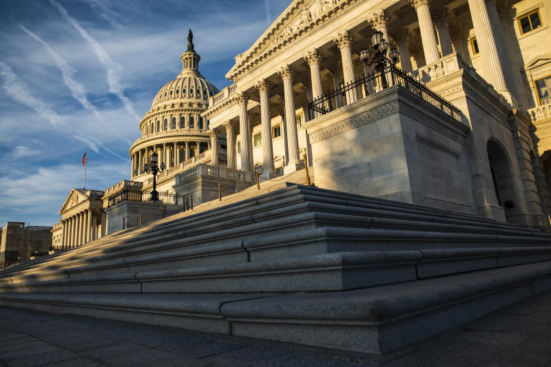 WASHINGTON, DC - SEPTEMBER 19: The rising sun illuminates the United States Capitol Building on September 19, 2019 in Washington, DC. Intelligence Community Inspector General Michael Atkinson is set to meet with members of the House Intelligence Committee over a recent whistleblower complaint against President Donald Trump by an intel analyst. (Photo by Samuel Corum/Getty Images)