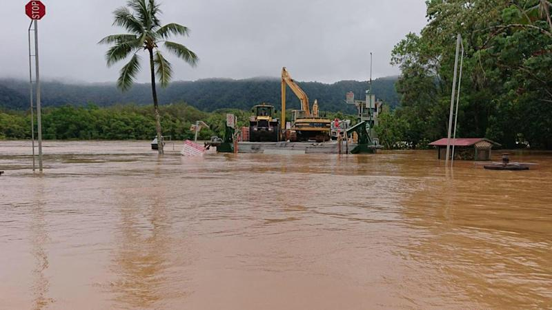 Queensland flood victim angry about water release, scared of crocodiles in Townsville