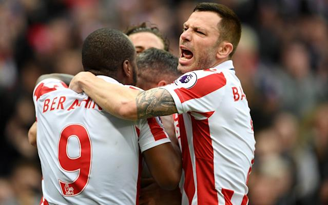 <span>Phil Bardsley will be kept on by Stoke</span> <span>Credit: GETTY IMAGES </span>