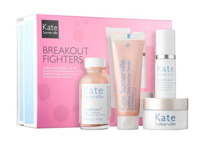 """Get this <a href=""""https://fave.co/3jw92Sc"""" target=""""_blank"""" rel=""""noopener noreferrer"""">Kate Somerville Breakout Fighters on sale</a> (normally $55) during Sephora's Holiday Savings Eventwith code<strong>HOLIDAYFUN</strong>at checkout."""