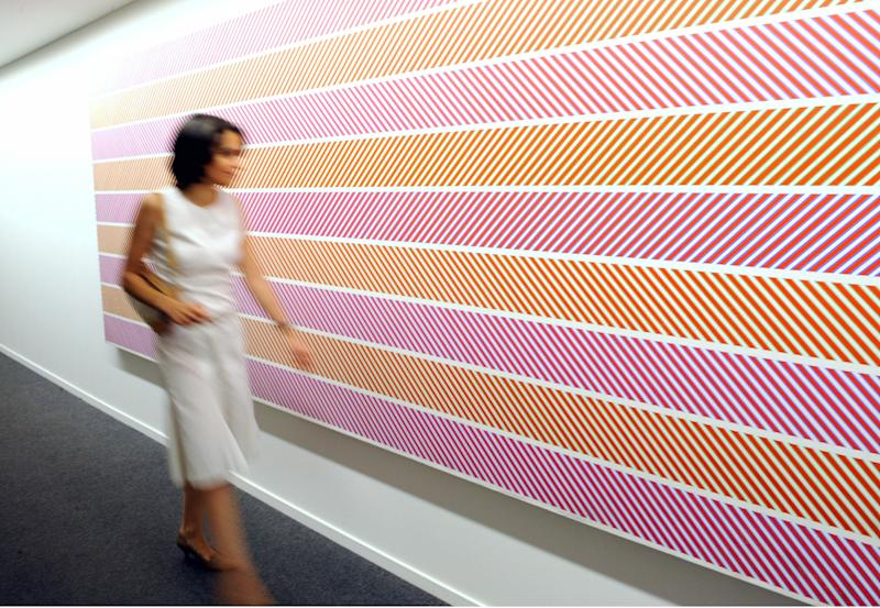The Bridget Riley's exhibition at Paris Musee d'Art Moderne. [Photo: Getty]