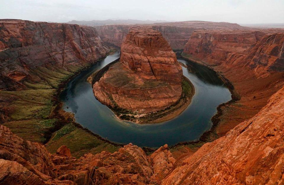 <p>The Colorado River famously wraps around the mountain, forming a horseshoe in Glen Canyon National Recreation Area, Arizona // February 11, 2017</p>