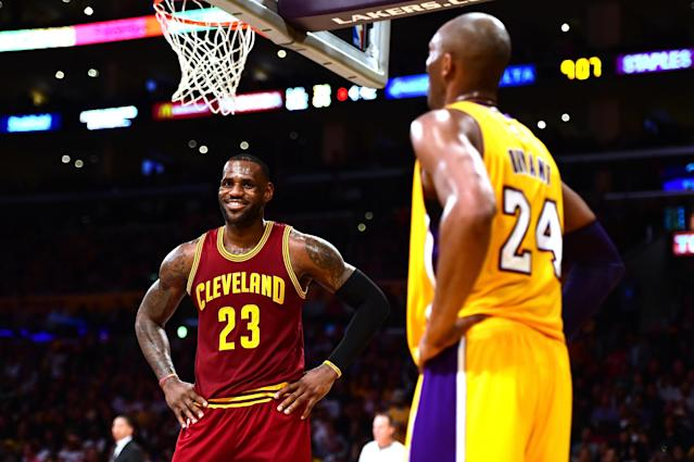Will Kobestans finally welcome LeBron James to L.A. with knowledge that Kobe Bryant played a reported role in pursuing him? (Getty)