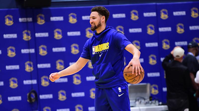 Klay Thompson isn't 'missing a beat' at Warriors minicamp so far