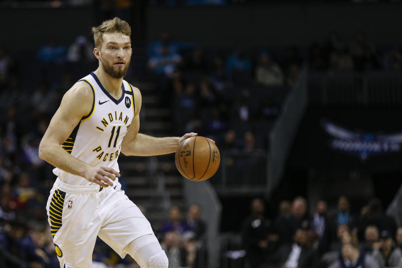 Domantas Sabonis。(AP Photo/Nell Redmond)