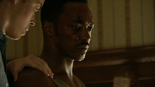 Will Poulter and Anthony Mackie in <em>Detroit</em>. (Annapurna)