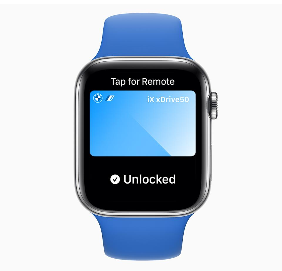 The Apple Watch will soon be able to unlock and start your car. Though, your car will need to support the technology, too. (Image: Apple)