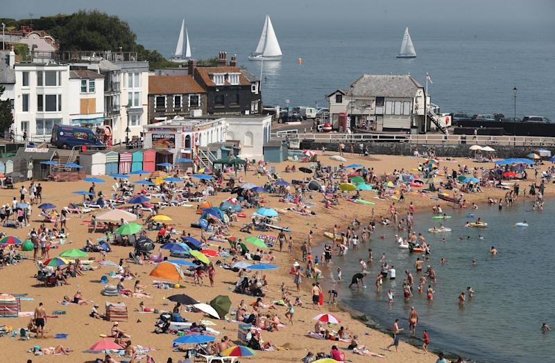 <strong>The beach in Broadstairs, Kent, was busier than usual this summer</strong> (Photo: Gareth Fuller - PA Images via Getty Images)