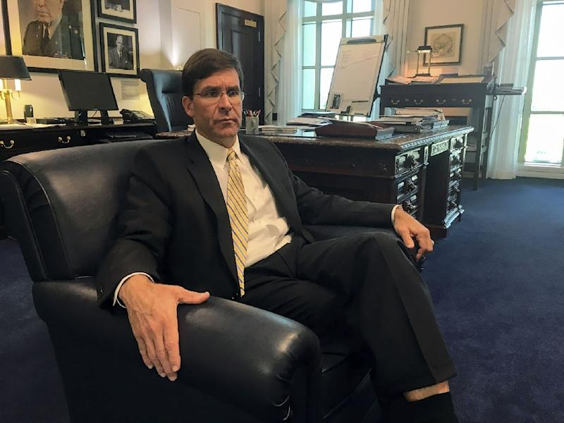 US Army Secretary Mark Esper told AFP that when he visited Poland in January, it appeared there was not enough space on offer to fulfill the training requirements for US soldiers
