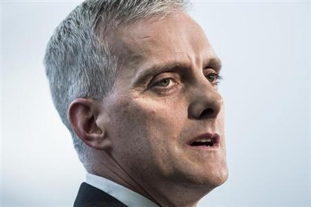 White House Chief of Staff Denis McDonough speaks during a retirement ceremony at the NSA in Fort Meade
