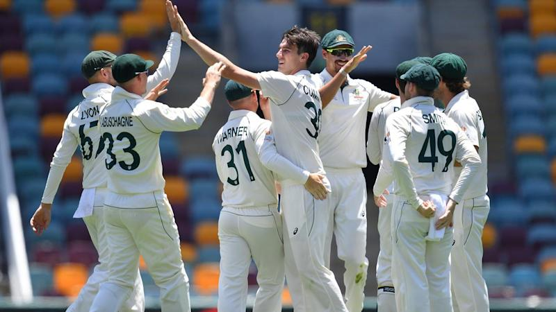 Australia are being made to fight hard for a first Test win over Pakistan on day four in Brisbane