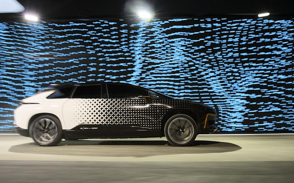 A Faraday Future concept car seen in 2017 - Bloomberg Finance