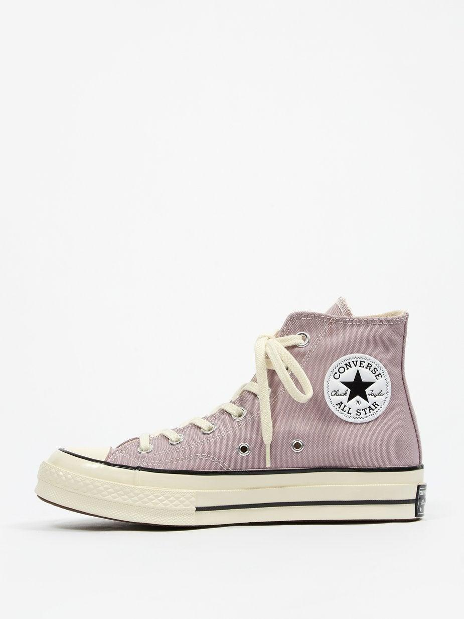 """Okay, firstly, I don't think you can have too many pairs of Converse hi-tops. Secondly, these are lilac (well, according to Converse they're the colour of 'Himalayan Salt'). They should make up for the fact that everything else I wear is either black or white.<br><br><strong>Converse</strong> Chuck Taylor All Star 70 Hi W Himalayan Salt, $, available at <a href=""""https://goodhoodstore.com/products/converse-chuck-taylor-all-star-70-hi-w-himalayan-salt-womens-aw21"""" rel=""""nofollow noopener"""" target=""""_blank"""" data-ylk=""""slk:Goodhood"""" class=""""link rapid-noclick-resp"""">Goodhood</a>"""