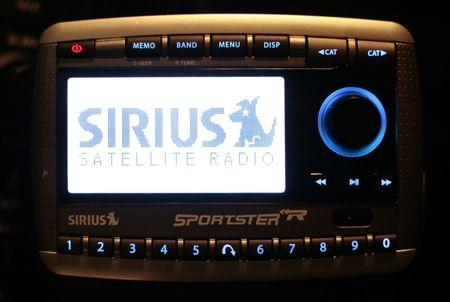 A Sirius Satellite Radio is shown in Washington