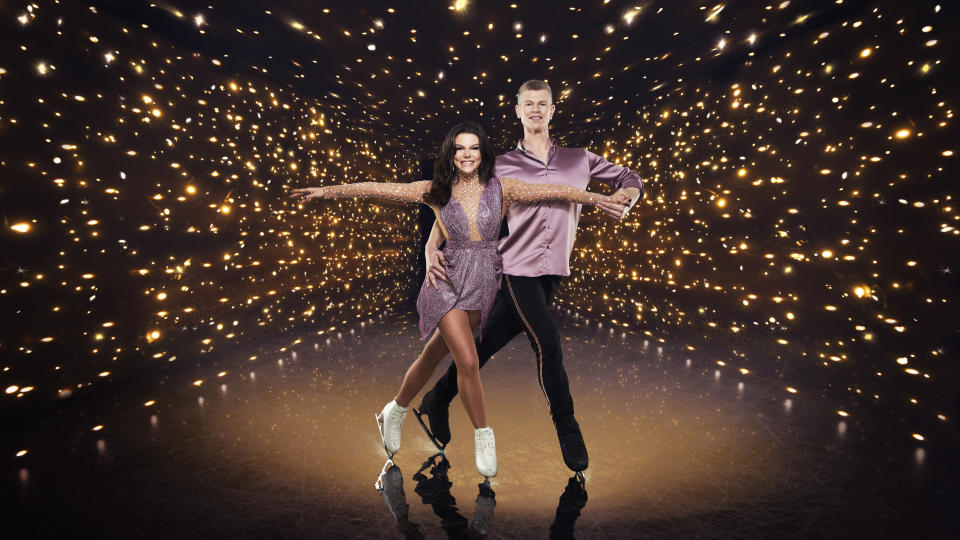 Faye Brookes' Dancing On Ice partner Hamish Gaman has been forced to quit the show. (ITV)