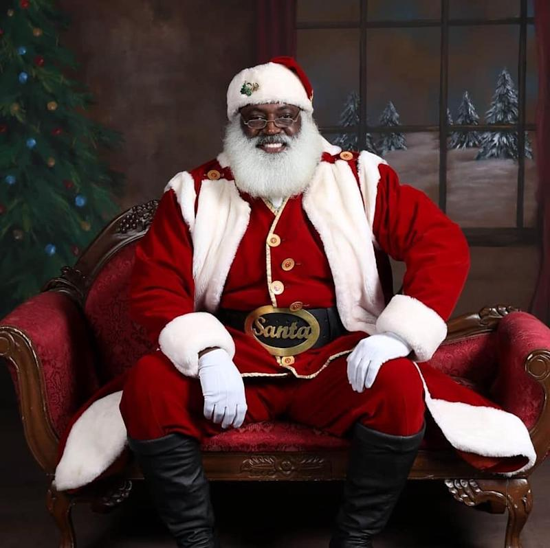 D. Sinclair hasn't seen requests for him to perform as Santa dip this season but he says that connecting with others is more important than money.