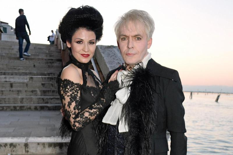 Birthday girl: Nefer Suvio with husband Nick Rhodes (Photo Dave Benett/Getty Images) (Dave Benett/Getty Images)