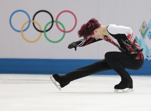 Misha Ge of Uzbekistan competes in the men's free skate figure skating final at the Iceberg Skating Palace during the 2014 Winter Olympics, Friday, Feb. 14, 2014, in Sochi, Russia
