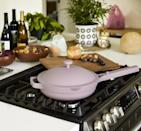 """<p>""""The <span>Our Place Always Pan</span> ($145) is one my absolute kitchen must haves. The smart design can replace all the clunky old ones in your kitchen. Plus, I love that it comes with a steamer, spatula, and build-in design place for your spatula to rest. The brand just launched it in a new lavender shade, and it's so pretty."""" - KJ</p>"""