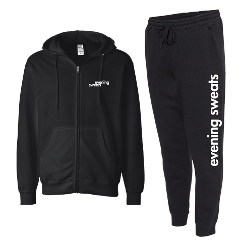"""<p><strong>Cosmopolitan</strong></p><p><strong>$65.00</strong></p><p><a href=""""https://shop.cosmopolitan.com/evening-sweat-bundle-set.html"""" rel=""""nofollow noopener"""" target=""""_blank"""" data-ylk=""""slk:Shop Now"""" class=""""link rapid-noclick-resp"""">Shop Now</a></p><p>Hi, we make loungewear now—and these fancy-<em>ish</em>, """"evening sweats"""" are too cute to pass up.</p>"""