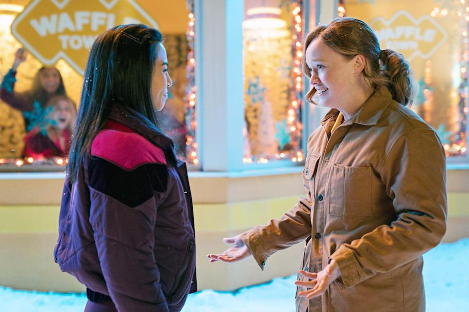 """<p>A group of teenagers find themselves stranded due to a snowstorm on Christmas Eve. While they're all trapped in close proximity, several different love stories unfold in funny and heartfelt fashion, including one between a closeted cheerleader and her secret girlfriend.</p> <p><a href=""""http://www.netflix.com/watch/80201542"""" class=""""link rapid-noclick-resp"""" rel=""""nofollow noopener"""" target=""""_blank"""" data-ylk=""""slk:Watch Let It Snow on Netflix now."""">Watch <strong>Let It Snow</strong> on Netflix now.</a></p>"""