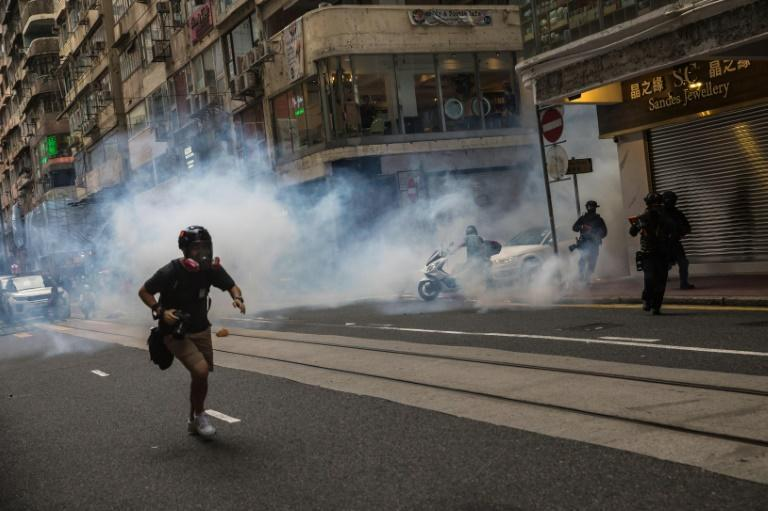 Hong Kong authorities say the security law was needed to return stability after 2019's protests