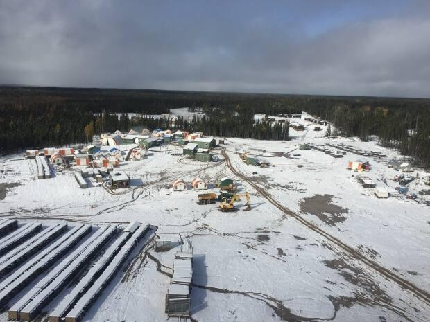 An aerial view of Noront's Esker Camp in the Ring of Fire. Noront's board of directors is recommending shareholders accept a new takeover bid by Australian company BHP. (Jeff Walters/CBC - image credit)