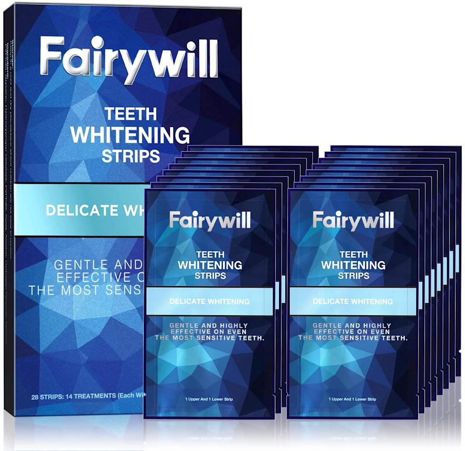 Fairywill Teeth Whitening Strips for Sensitive Teeth (Photo: Amazon)