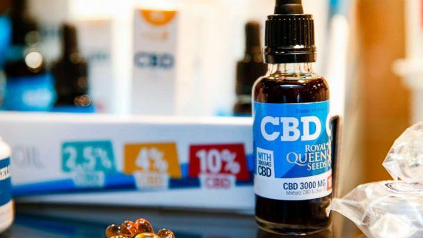 PHOTO: Oils containing CBD (Cannabidiol) are seen in a shop in Paris, June 14, 2018. (AFP/Getty Images)