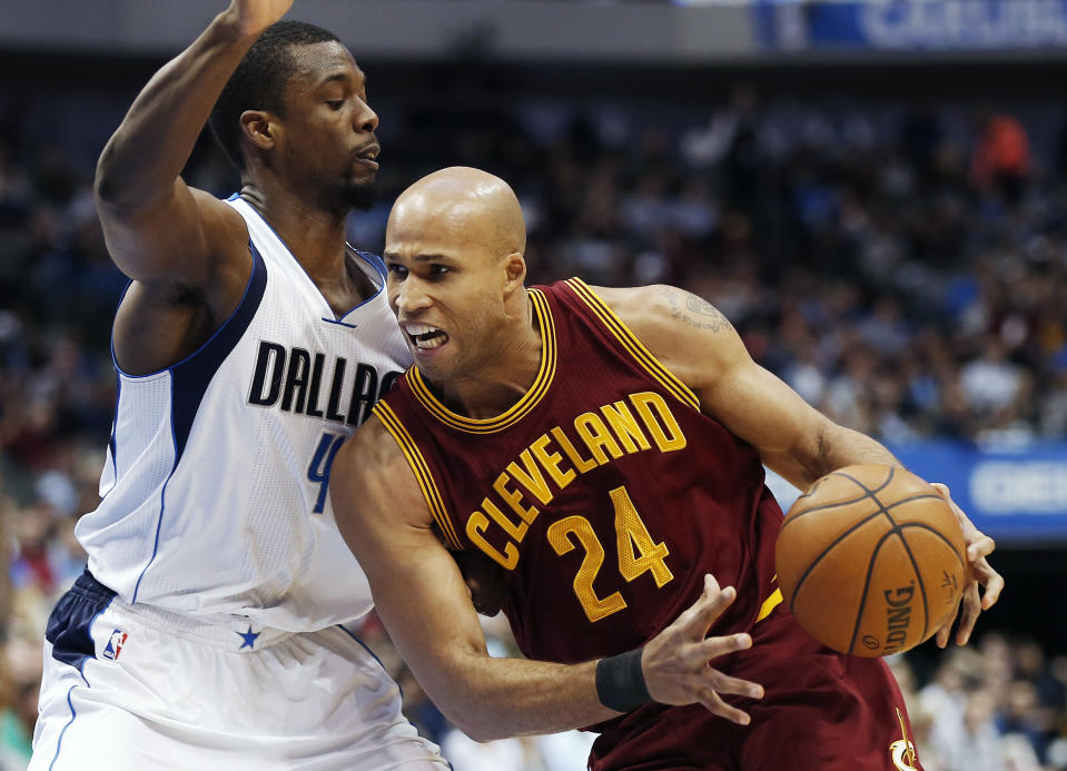 Richard Jefferson helped the Cleveland Cavaliers dig from a 3-1 hole to win the 2016 NBA Finals over the Warriors. (AP Photo)