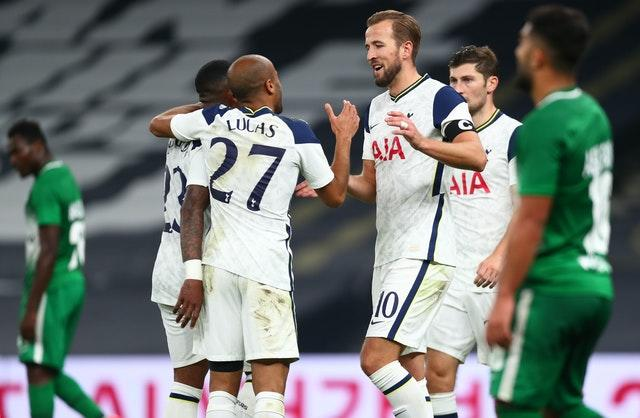 Harry Kane's hat-trick helped Spurs secure a place in the group phase