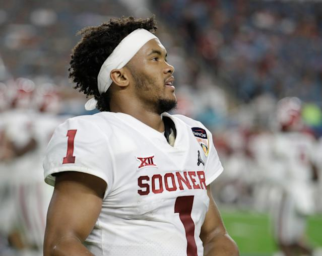 Kyler Murray will show off what he can do on the field for NFL talent evaluators on March 13 at Oklahoma's pro day. (AP)