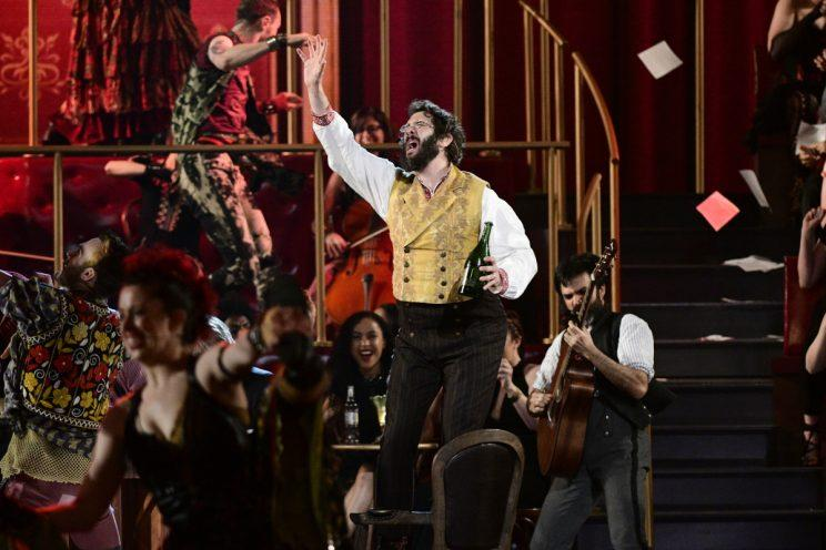Josh Groban and the cast of 'Natasha, Pierre & The Great Comet of 1812' perform at the Tony Awards (Photo: John P. Filo/CBS)