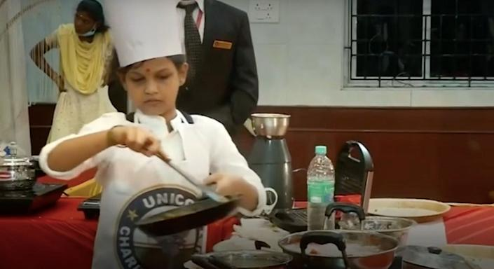 SN Lakshmi Sai Sri recently entered the UNICO Book of World Records by cooking 46 dishes in 58 minutes.